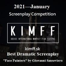 2021 - January Screenplay Competition KIMFF Best Dramatic Screenplay